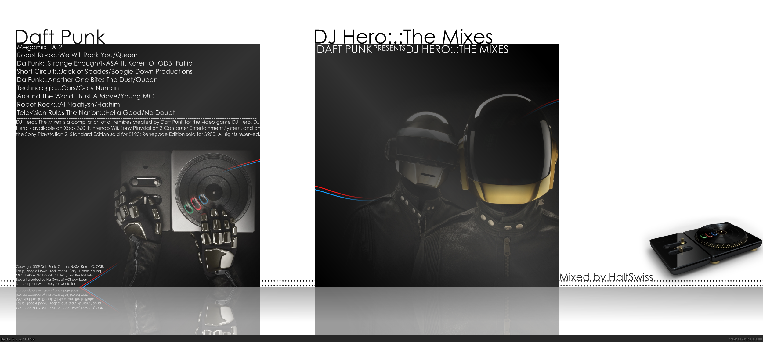 Daft Punk: DJ Hero:.:The Mixes box cover