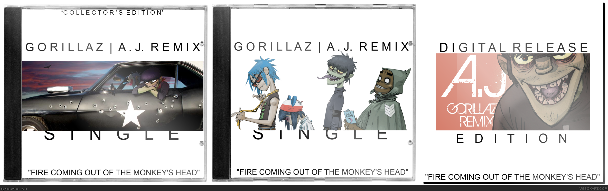 Gorillaz: Fire Coming Out... (A.J. Remix) - Single box cover