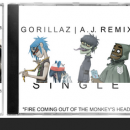 Gorillaz: Fire Coming Out... (A.J. Remix) - Single Box Art Cover