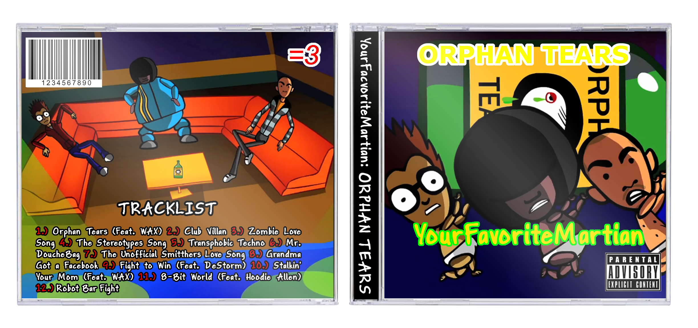 YourFavoriteMartian - ORPHAN TEARS box cover