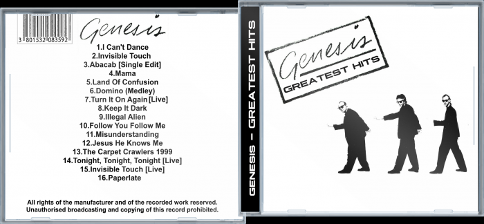 Genesis - Greatest Hits box art cover