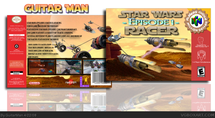 Star Wars Episode I: Racer box art cover