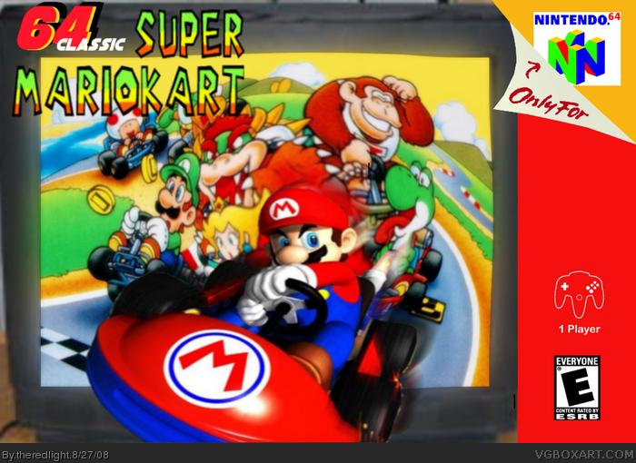 64 Classic Super Mario Kart Nintendo 64 Box Art Cover By Theredlight