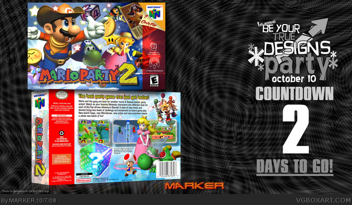 Mario Party 2 box art cover