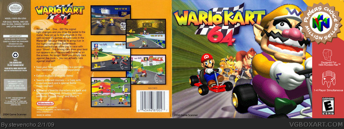 Wario Kart 64 Nintendo 64 Box Art Cover By Stevencho