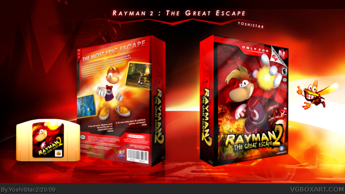 Rayman 2 - The Great Escape box art cover