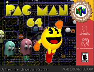 Pac Man 64 box cover