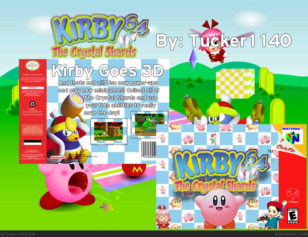 Kirby 64: The Crystal Shards box cover