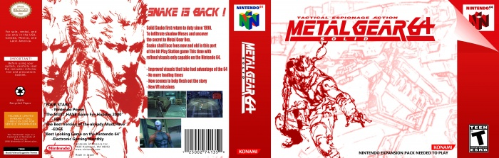 Metal Gear Solid 64 box art cover