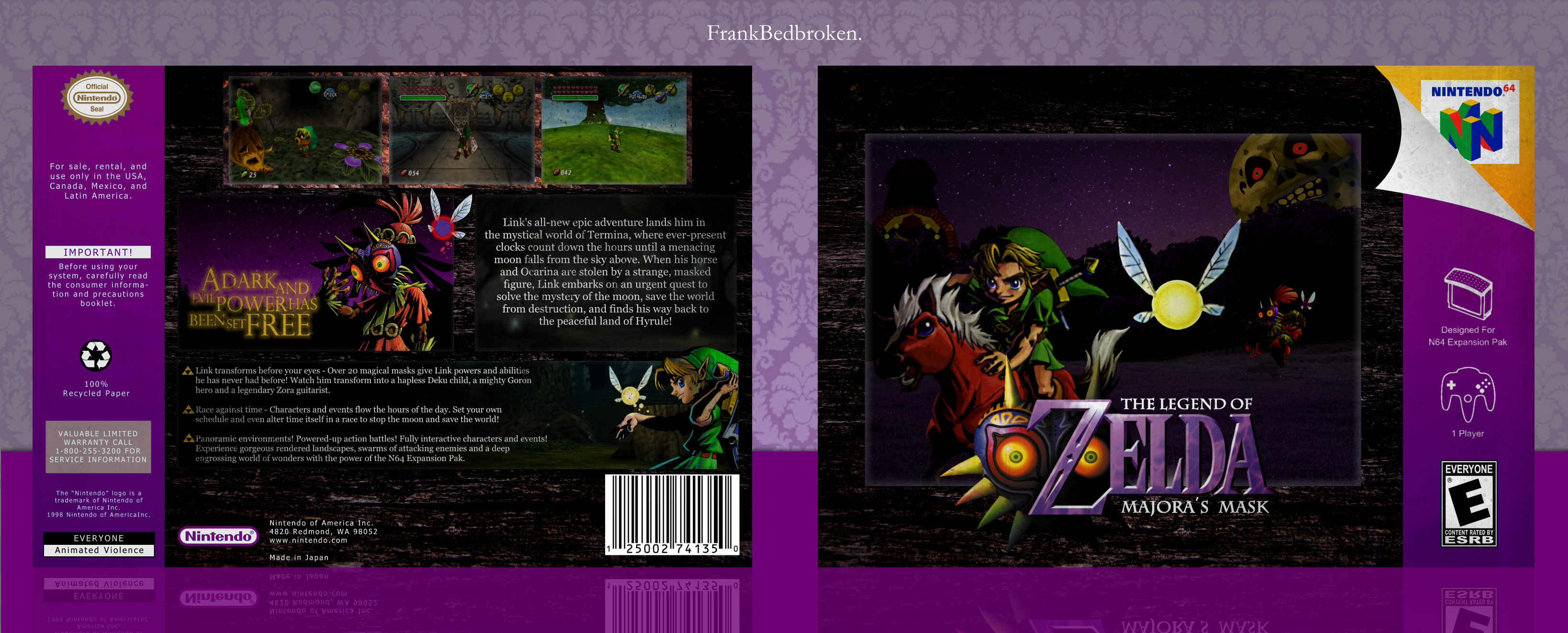 The Legend of Zelda: Majora's Mask box cover