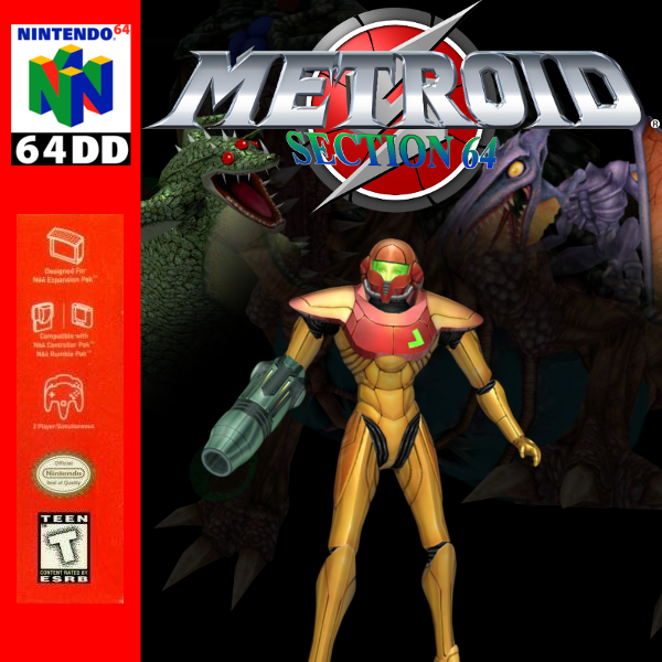 Metroid 64 box cover