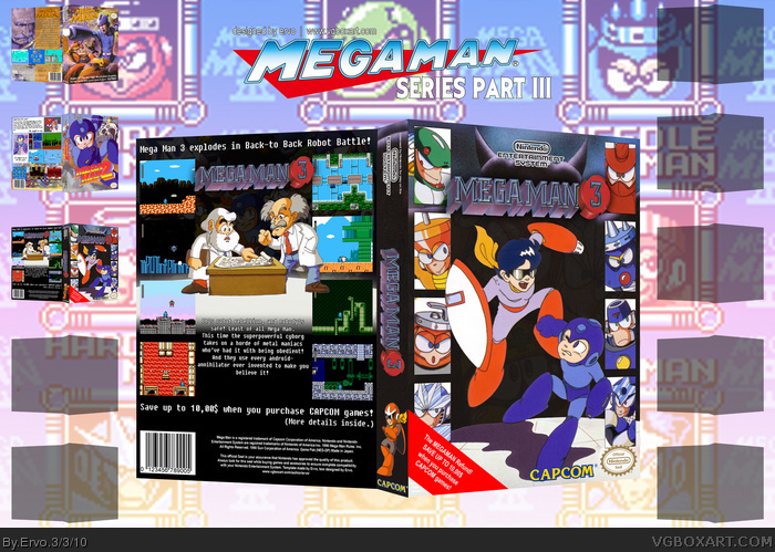 Mega Man 3 box art cover