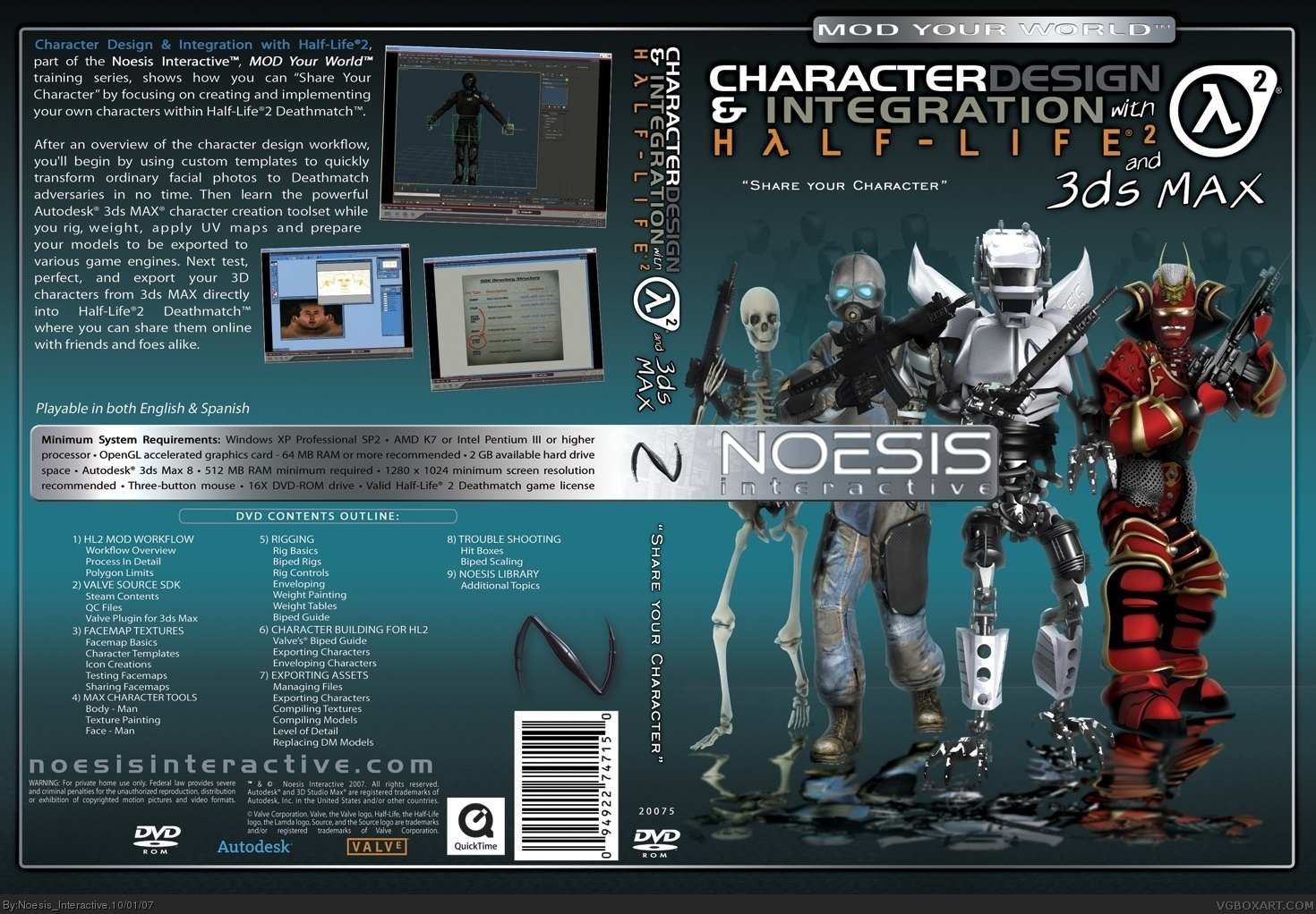 Noesis Interactive-Character Design with 3DS MAX box cover