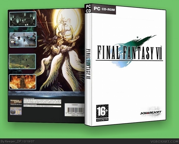 Final Fantasy Vii Pc Box Art Cover By Keeper Dp