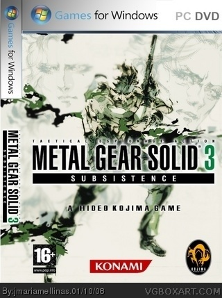 Metal Gear Solid 3 Subsistence box cover