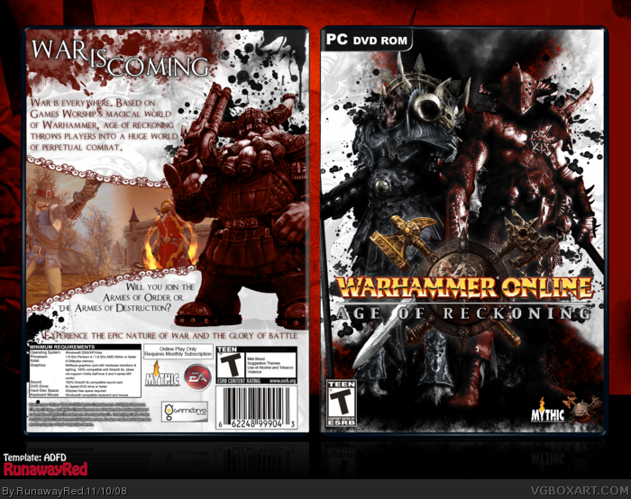Warhammer Online: Age of Reckoning box art cover