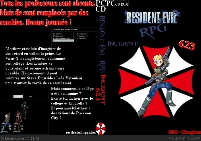 Resident Evil RPG Incident 623 box art cover