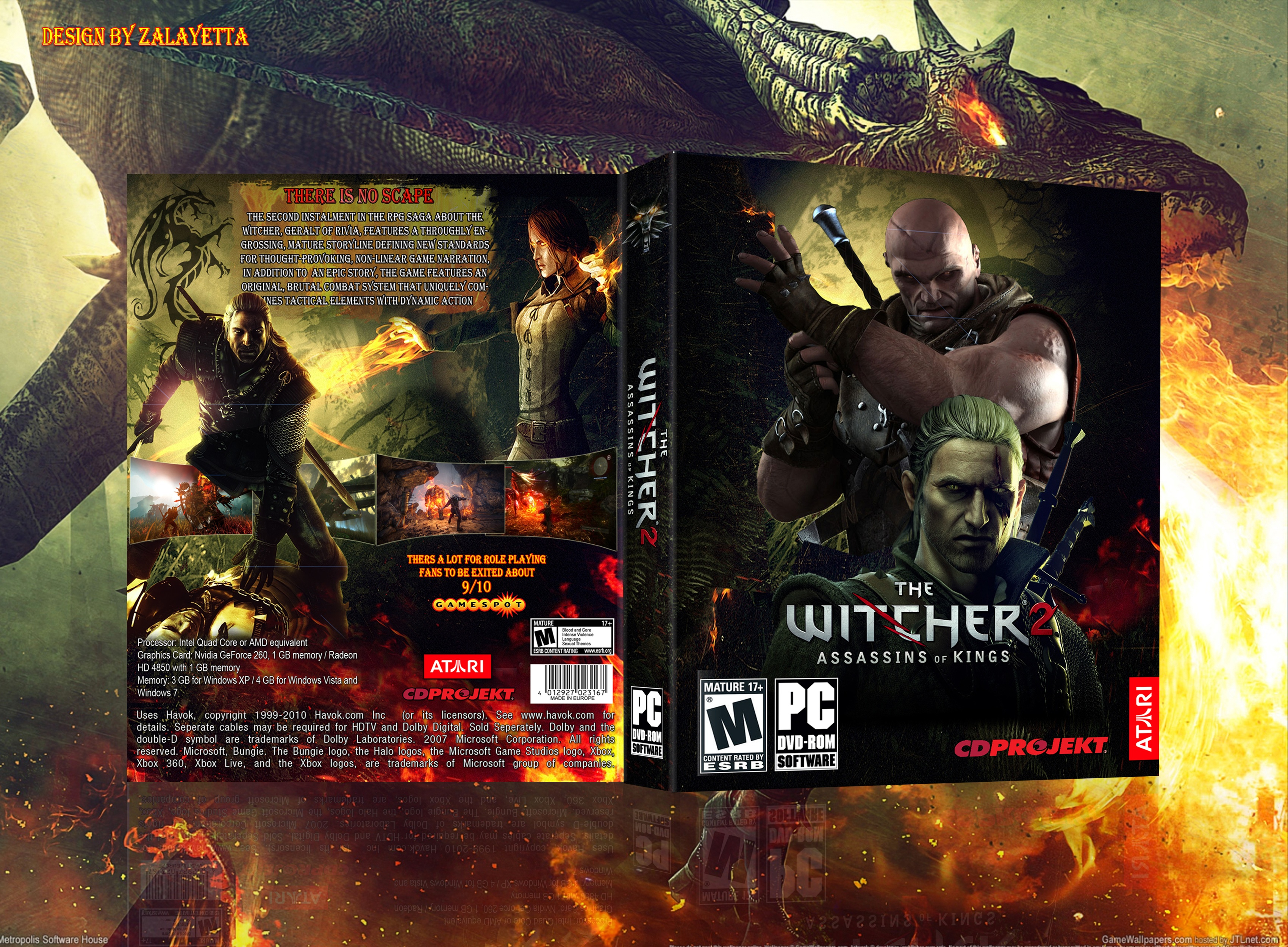 The Witcher 2: Assassins of Kings box cover