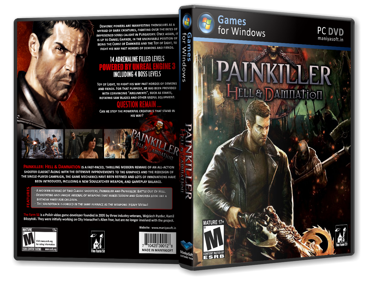 Painkiller: Hell & Damnation box cover