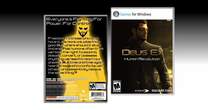 Deus Ex: Human Revolution box art cover