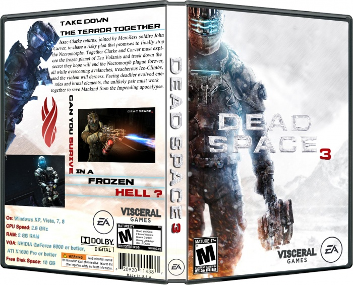 Dead Space 3 Pc Box Art Cover By Oxygen
