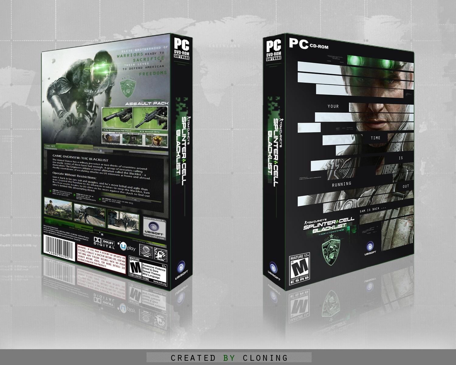 Tom Clancy's Splinter Cell: Blacklist box cover