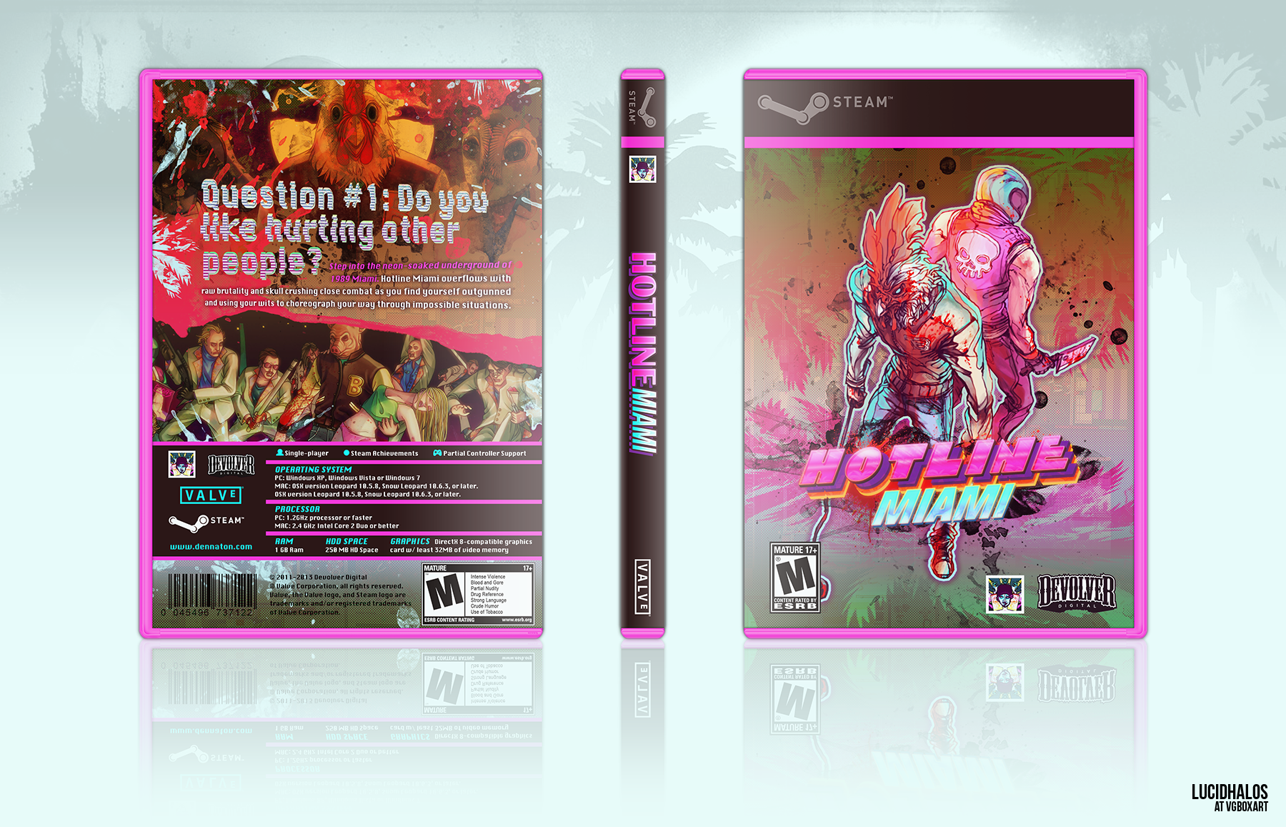 Hotline Miami box cover