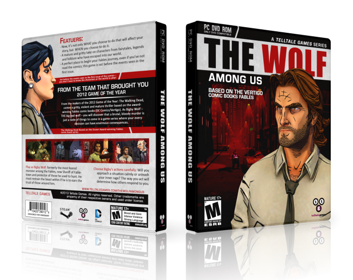 The Wolf Among Us box art cover