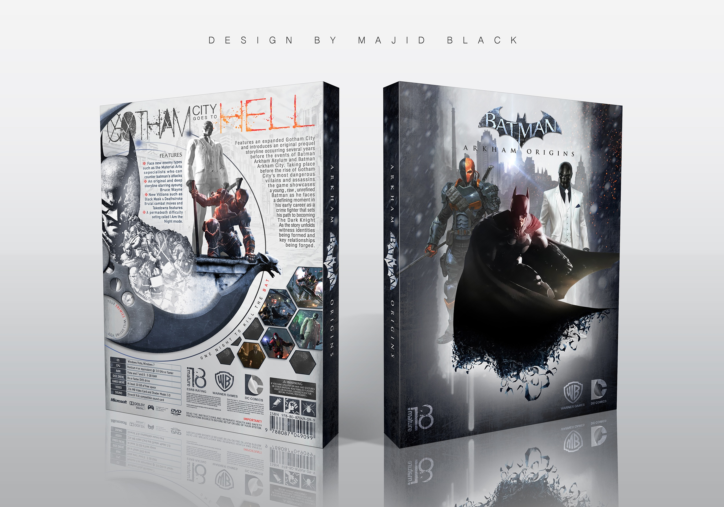Batman Arkham Origins box cover