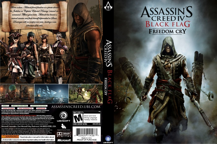 Assassins Creed IV: Black Flag Freedom Cry PC Box Art ...