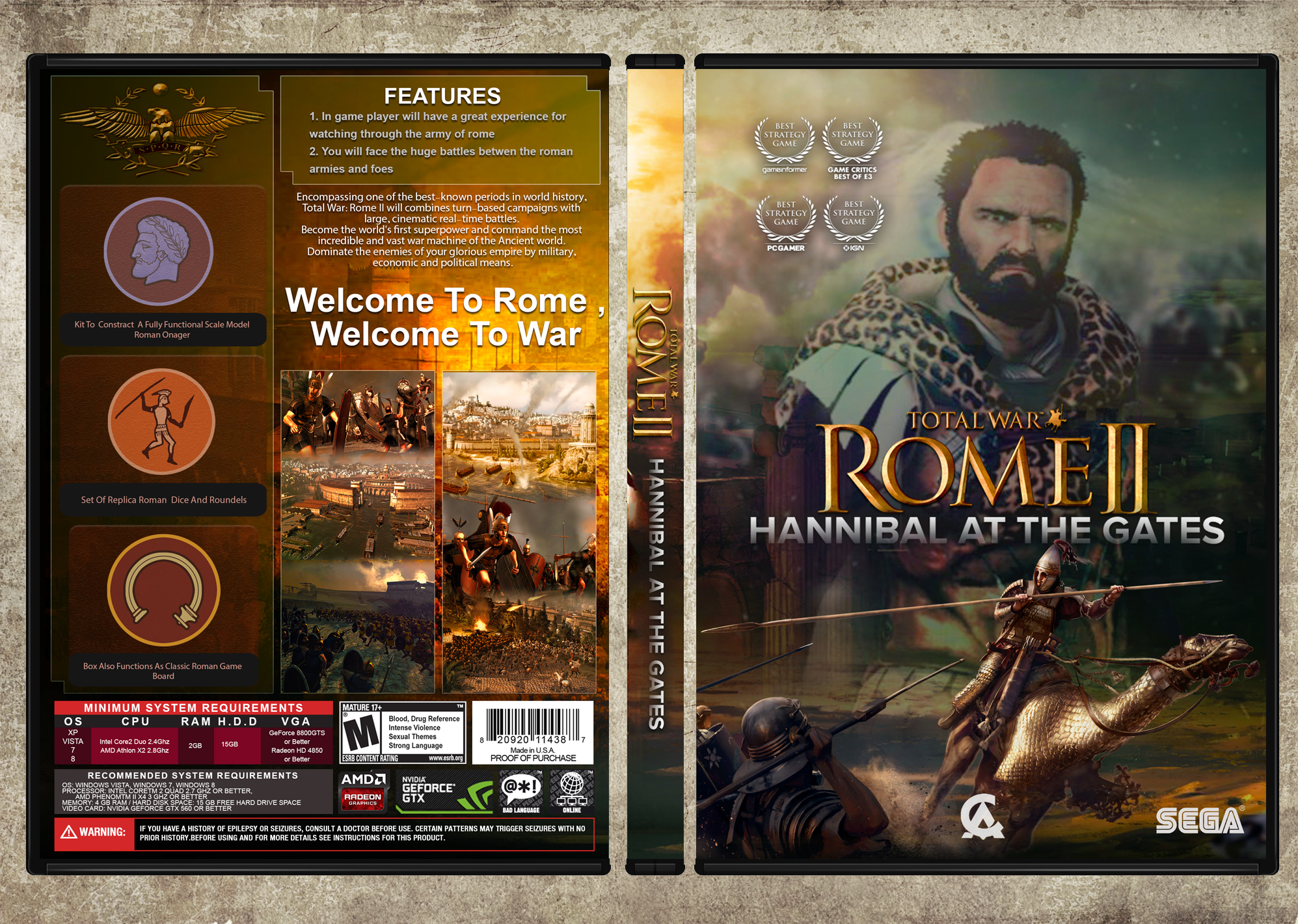 Total War Rome II Hannibal at the Gates box cover