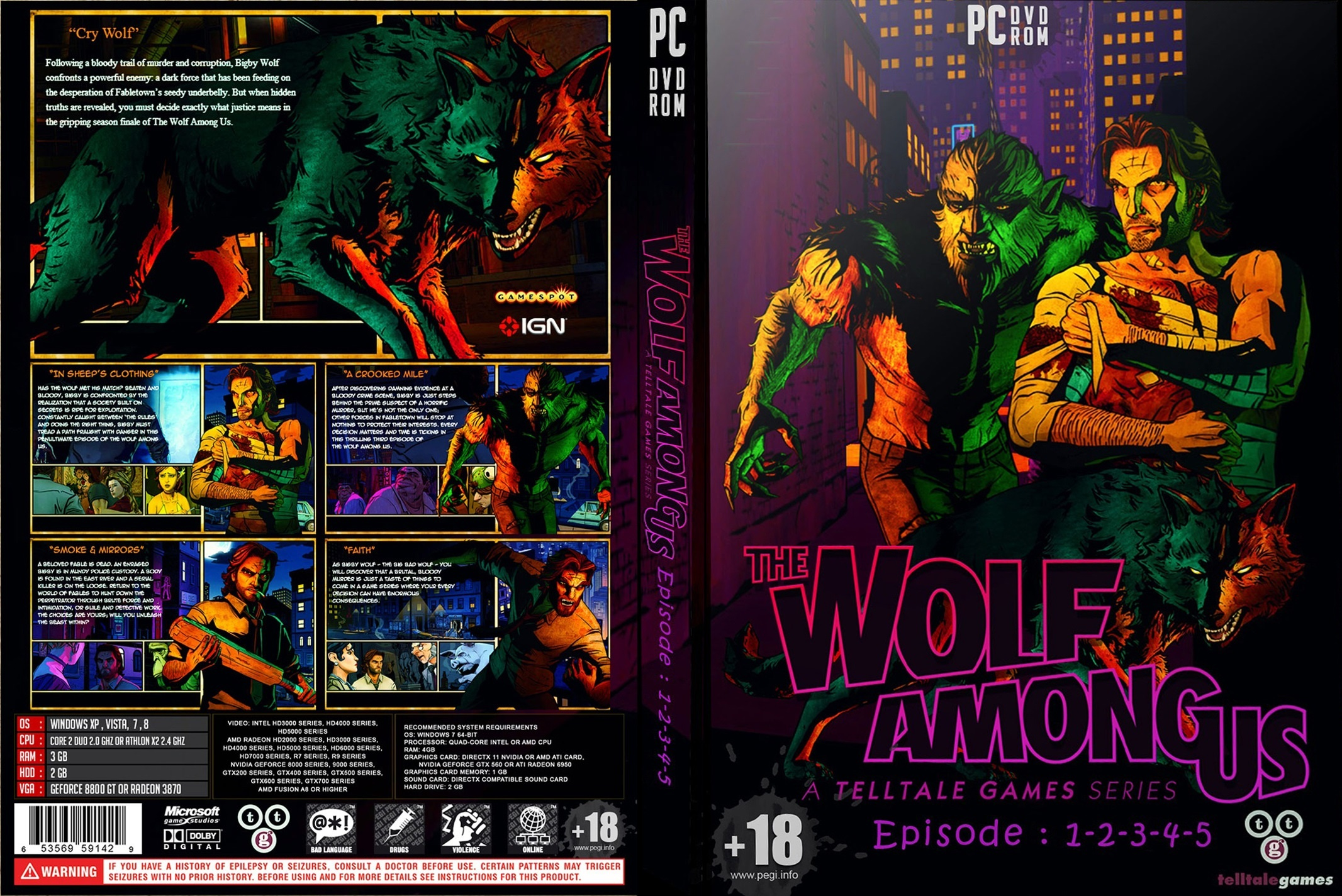 The Wolf Among Us All Episode box cover