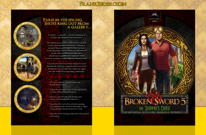 Broken Sword 5: The Serpent's Curse box art cover