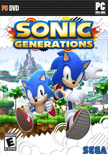 Sonic Generations for the PC box art cover