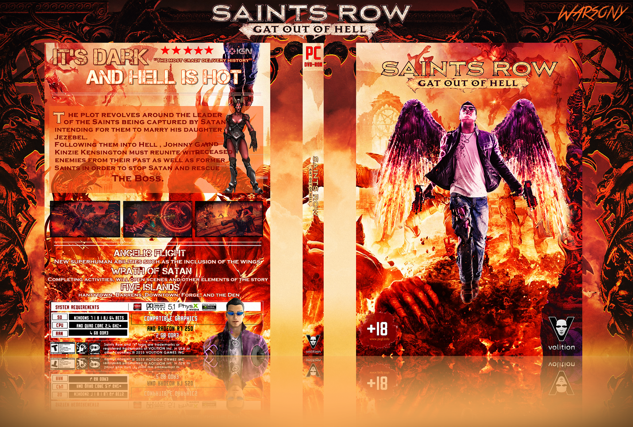 Saints Row: Gat Out Of Hell box cover
