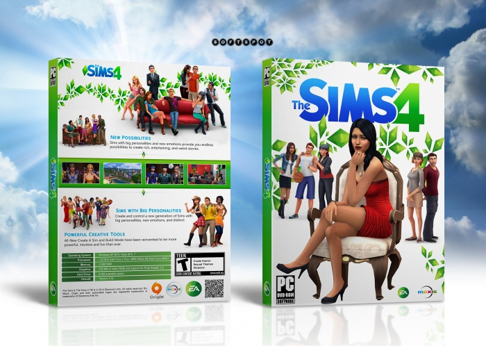 The Sims 4 Digital Deluxe Edition Pc Box Art Cover By Softspot