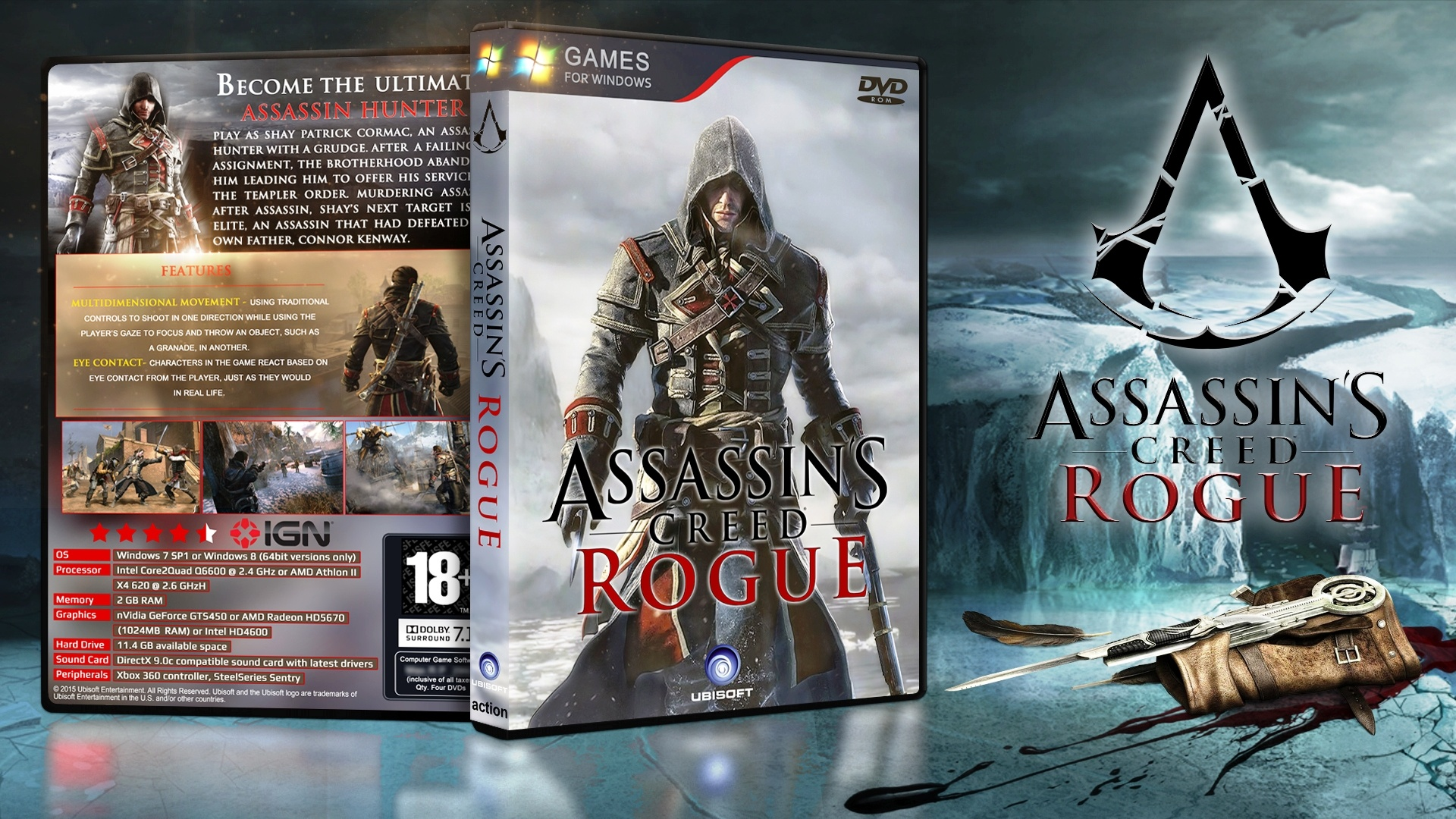 Assassin's Creed Rogue box cover