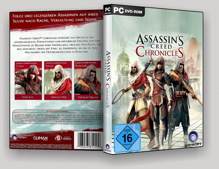 Assassin's Creed: Chronicles box art cover