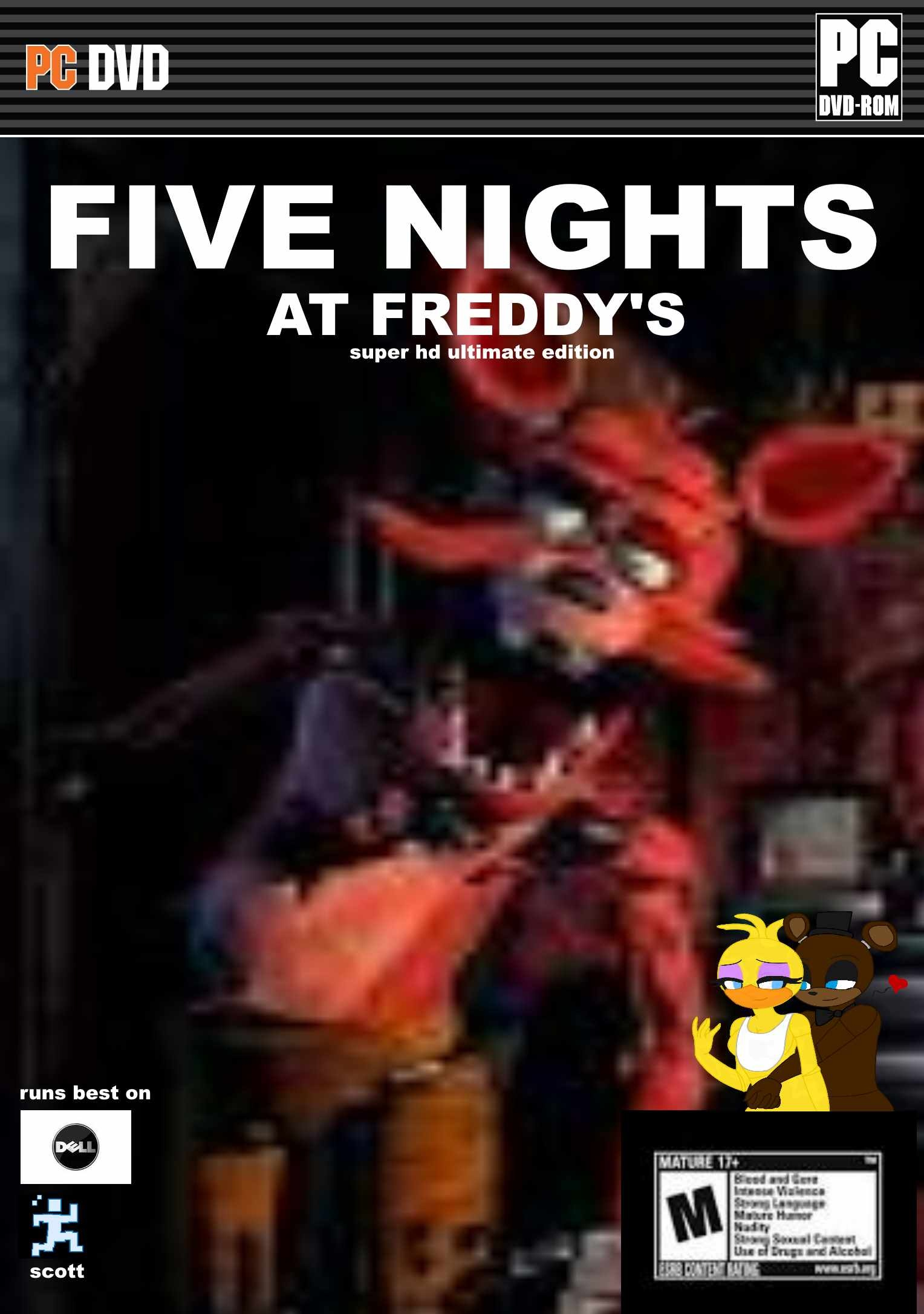 five nights at freddys box cover