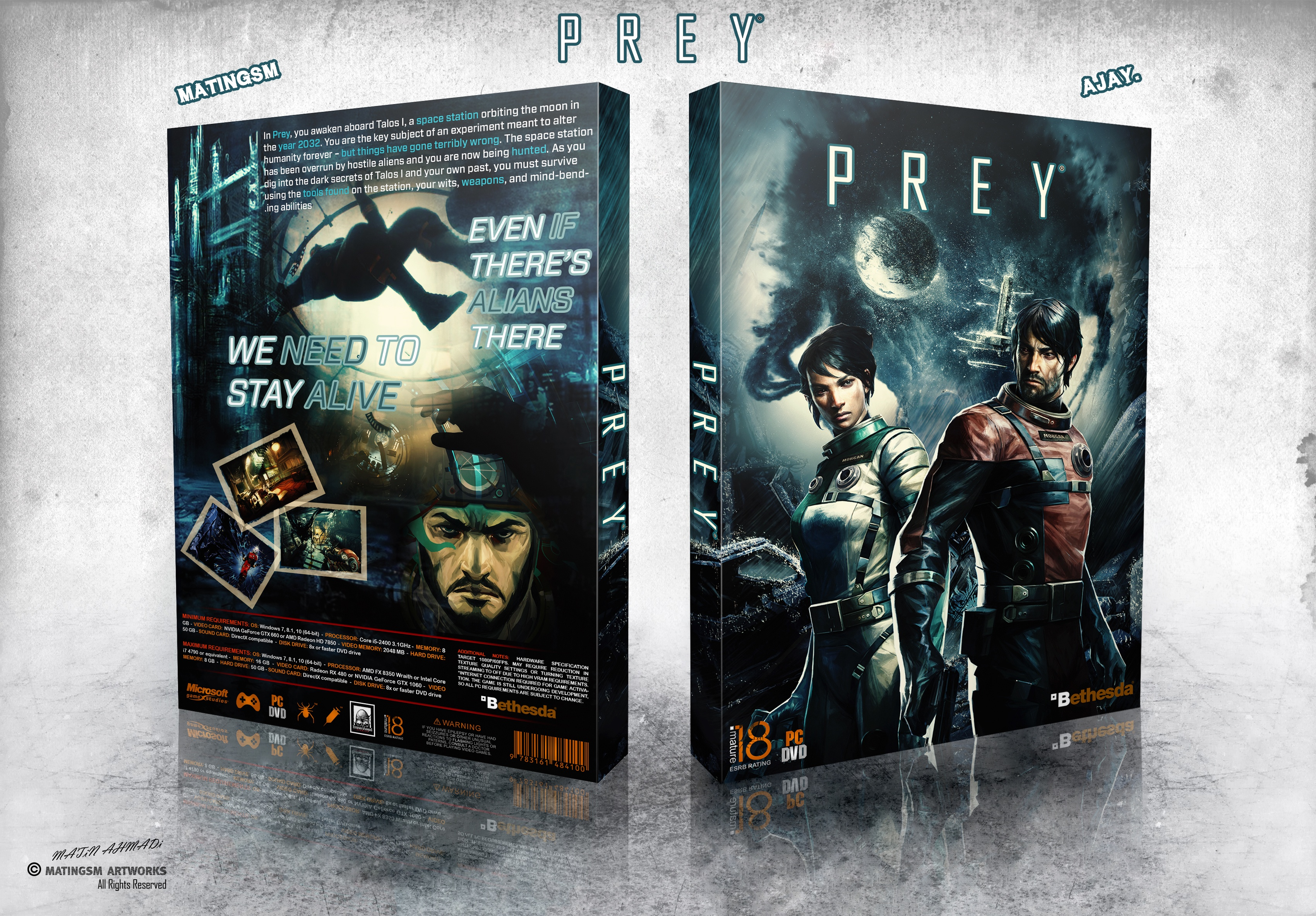 Prey box cover