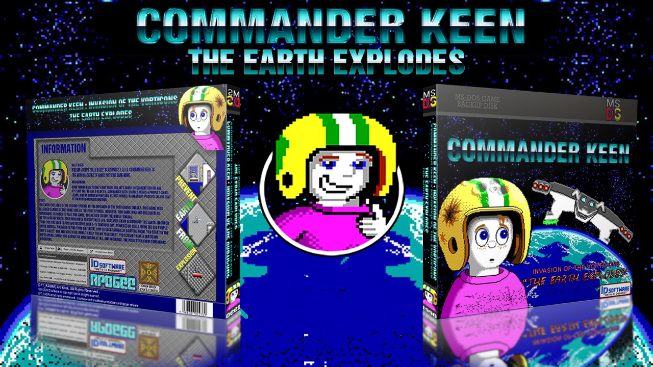 Commander Keen : The Earth Explodes box cover