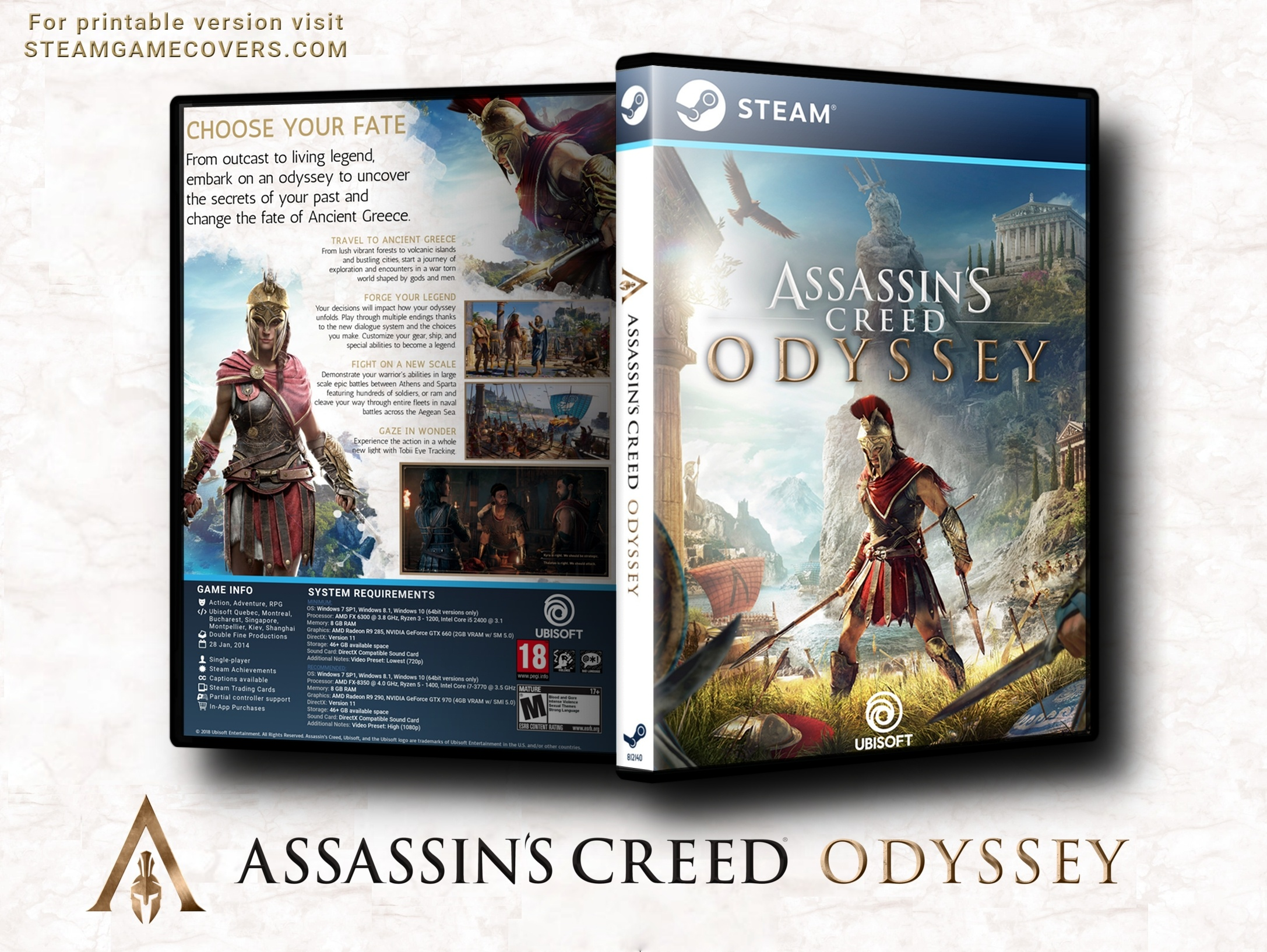 Assassin's Creed Odyssey box cover