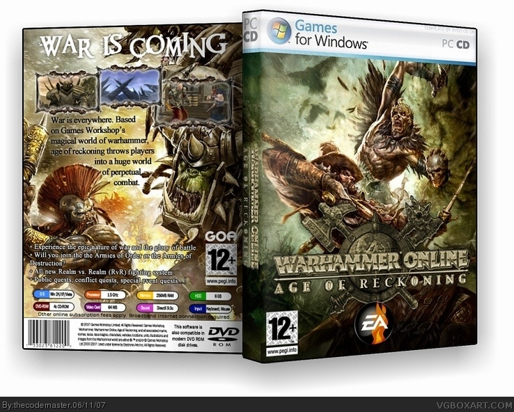 Warhammer Online: Age of Reckoning box cover