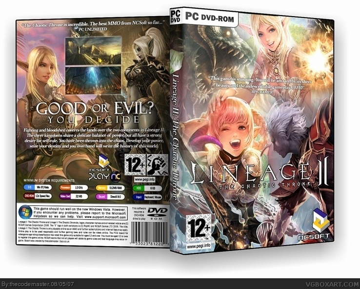 Lineage II: The Chaotic Throne box cover