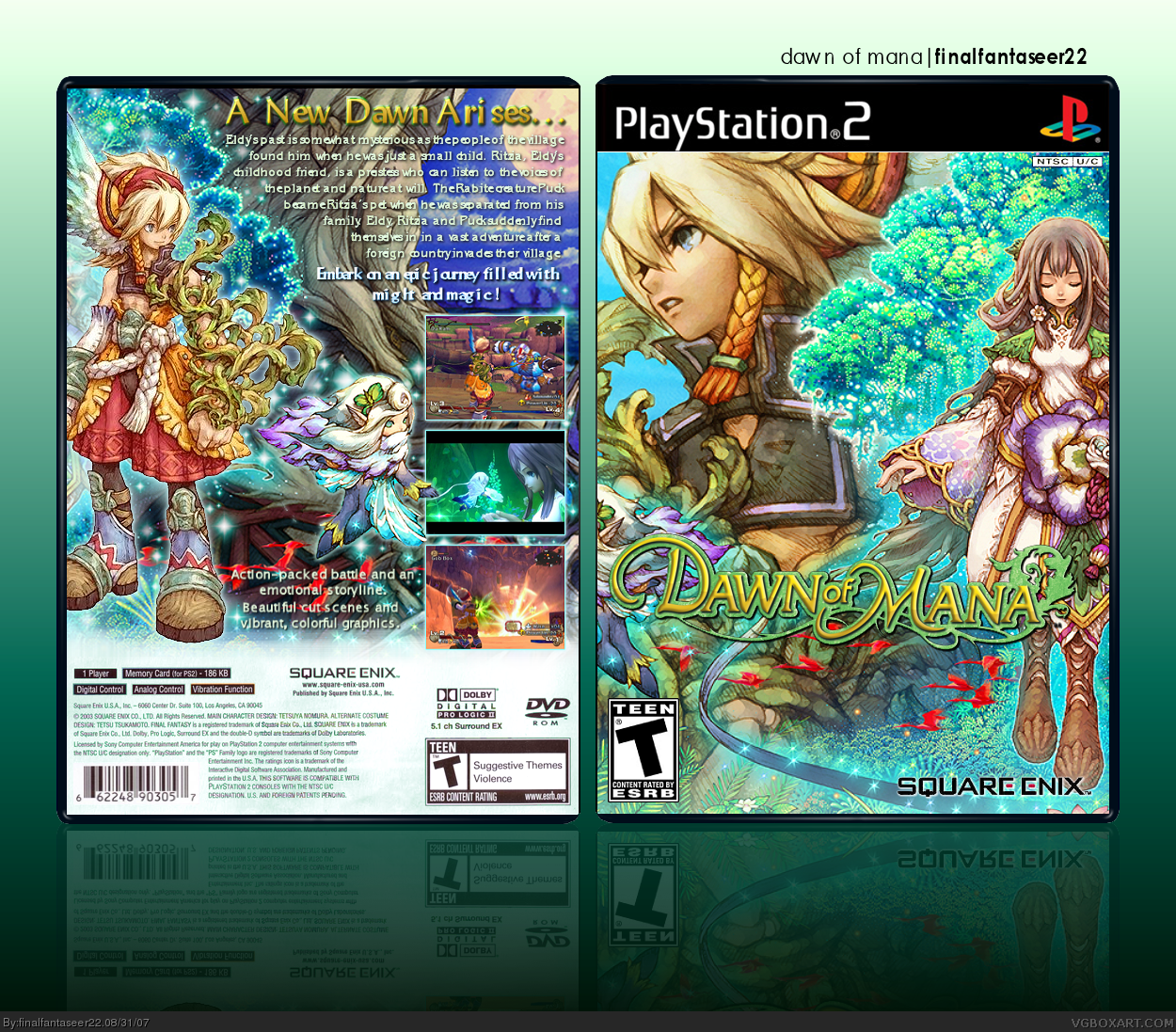 Dawn of Mana box cover