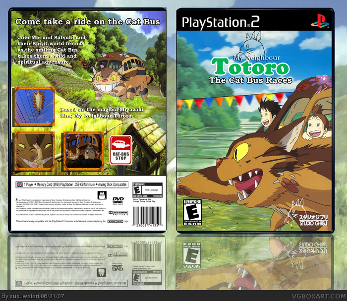 My Neighbour Totoro: The Cat Bus Races box art cover