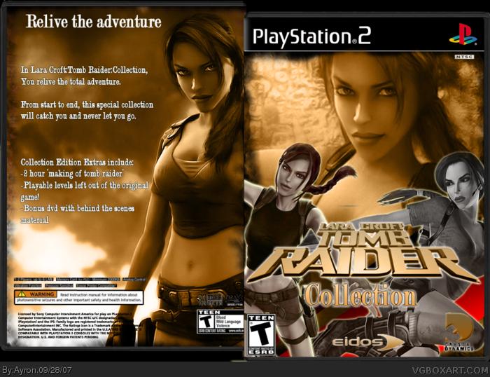 Lara Croft Tomb Raider Collection Playstation 2 Box Art Cover By Ayron