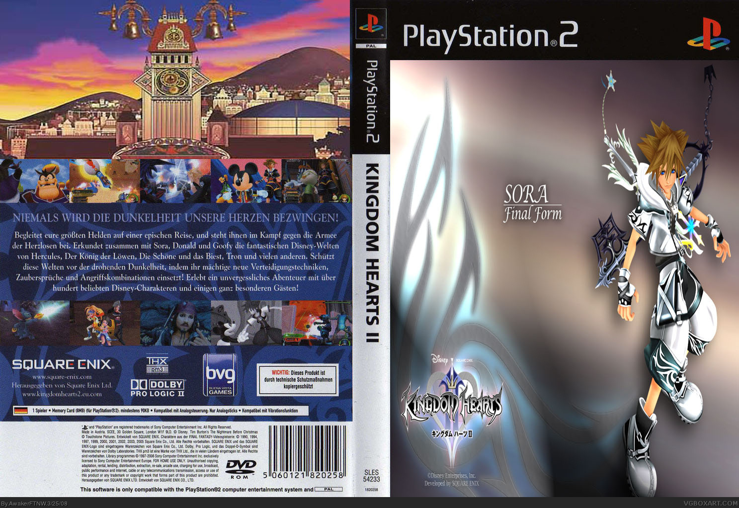 Kingdom Hearts II Pal (Ger) box cover