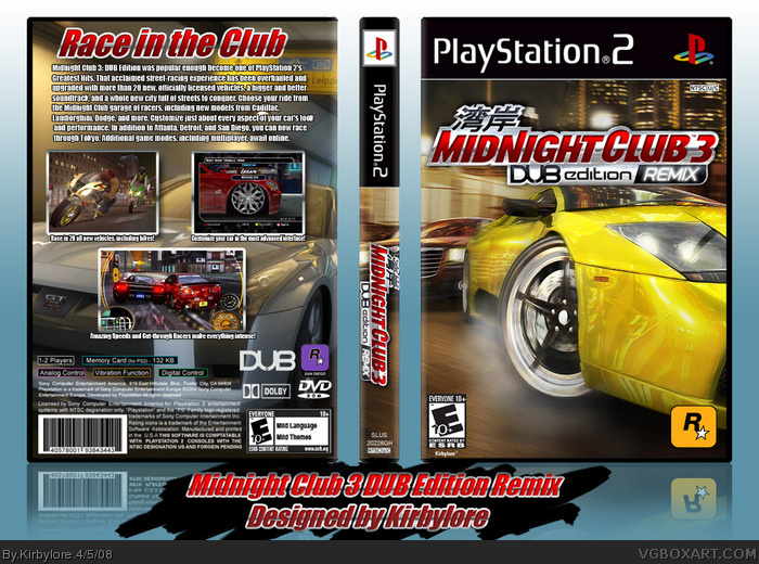 midnight club 3 dub edition remix ps2