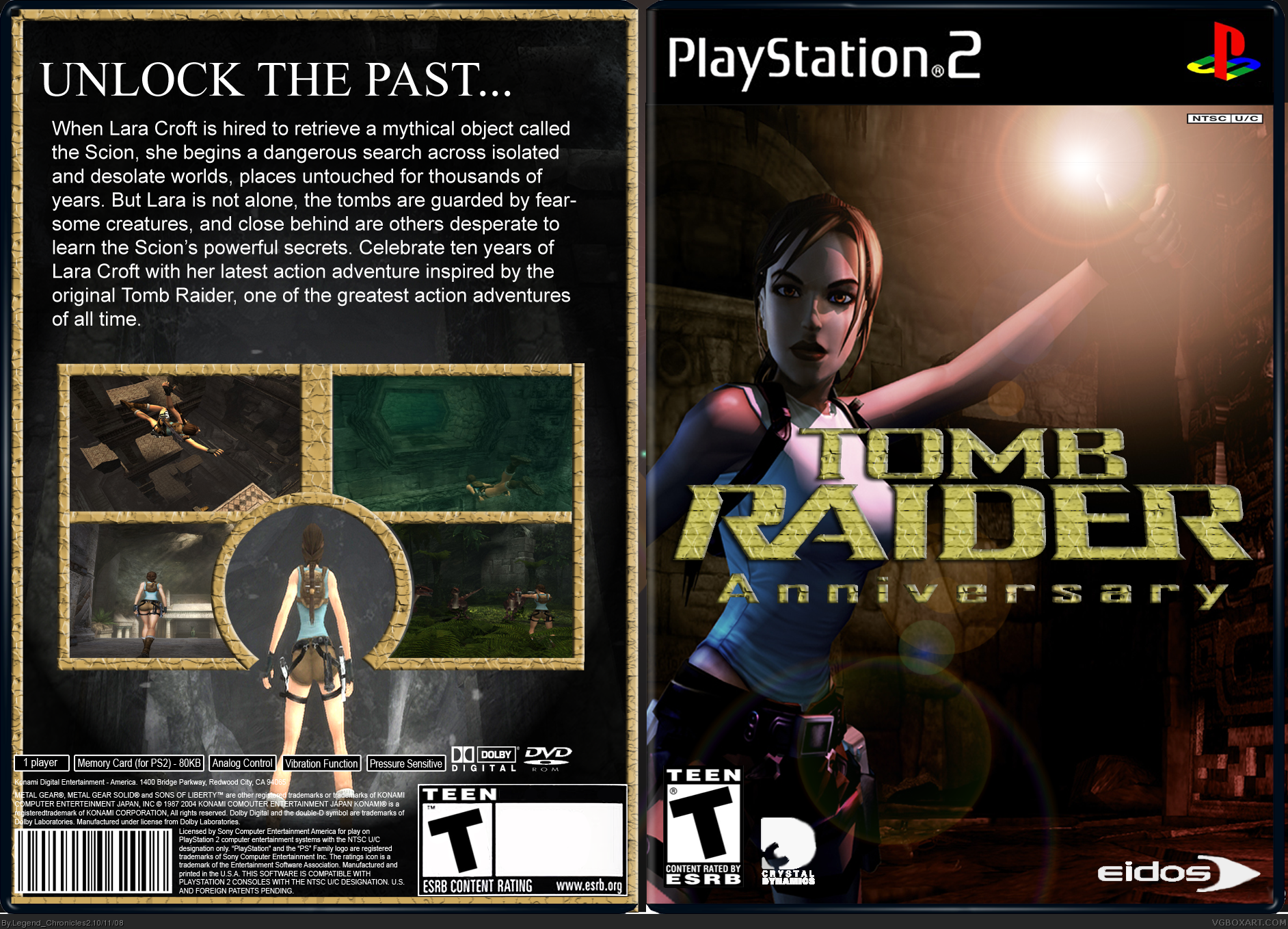 Tomb Raider Anniversary Playstation 2 Box Art Cover By